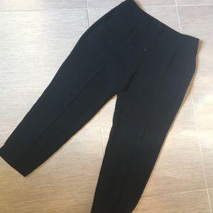 Jcrew collection crop slacks black size 2. Euc!